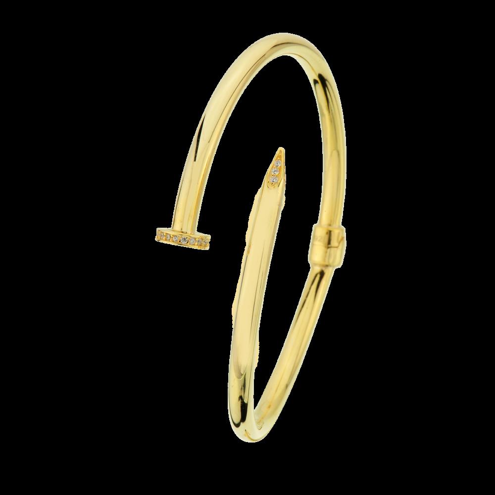 Çip Gold Çivi Modeli Altın Bileklik -BBL09